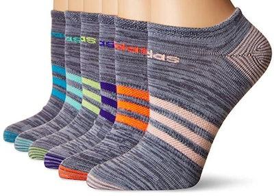 Adidas Women's Superlite No-Show Socks (6-Pack)