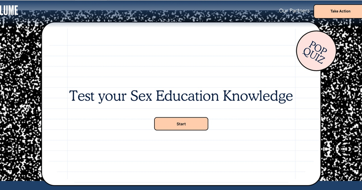 Blume's States Of Sex Ed Website Wants To Make Sex Ed Better