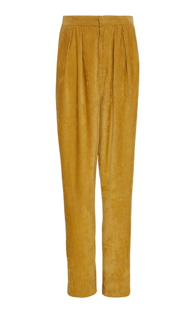 Fany Corduroy Pleated Pants