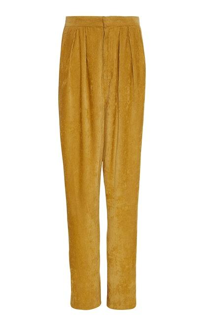 Fany Corduroy Pleated Pants