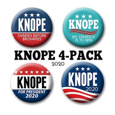 4-Pack Leslie Knope Buttons Badges