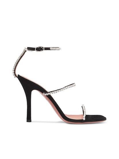 Gilda Crystal-Embellished Suede Sandals