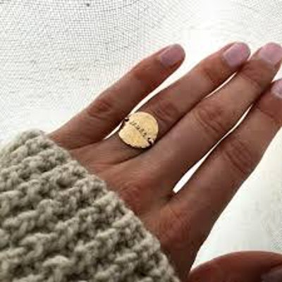 Hammered Name Ring