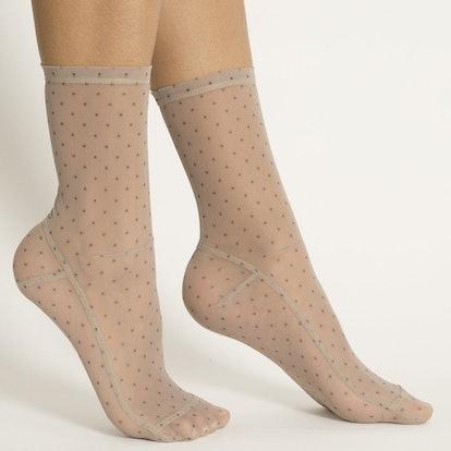 Mini Dots Mesh Socks