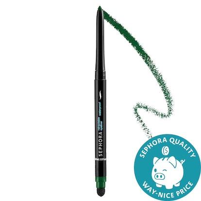 Sephora Collection Retractable Waterproof Eyeliner in Glitter Green