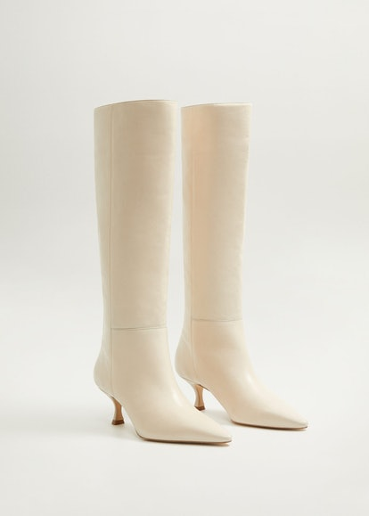 Leather High-Leg Slouch Boots