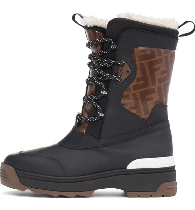 Genuine Shearling Lined Weather Resistant Ski Boot