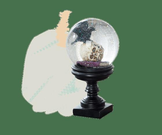 Skull & Black Crow Snow Globe