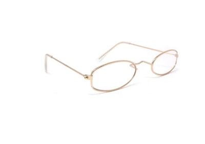 Gold Oval Dress Up Eyeglasses