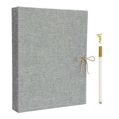 Linen Scrapbook Photo Album