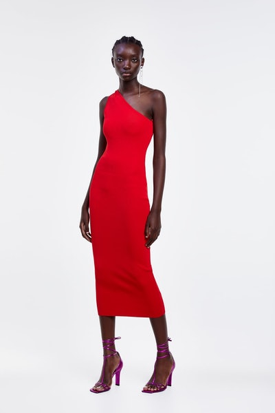 Asymmetrical Slip Dress