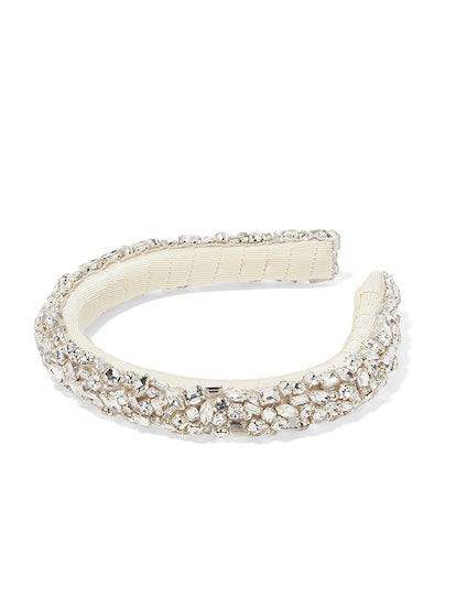 Czarina Crystal-Embellished Grosgrain Headband