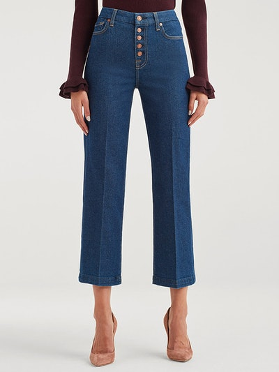 Vintage Cropped Alexa Jeans In Fauna