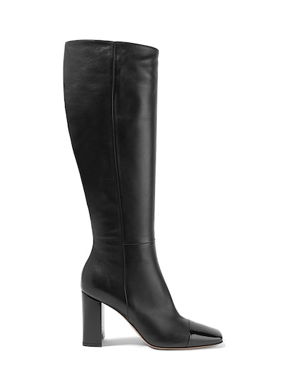 85 Smooth And Patent-Leather Knee Boots