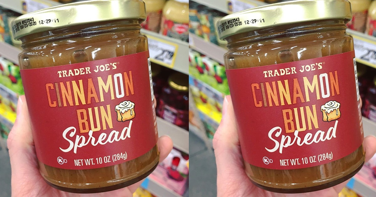 Trader Joe's Cinnamon Bun Spread Is Here Just In Time For Fall