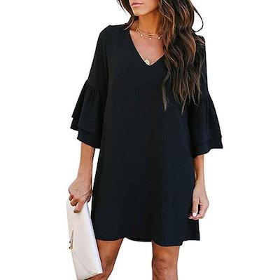 SimpleFun Bell Sleeve Mini Dress