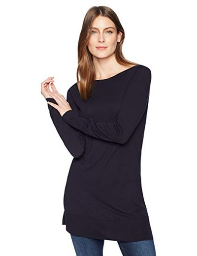 Lark & Ro Boatneck Tunic Sweater