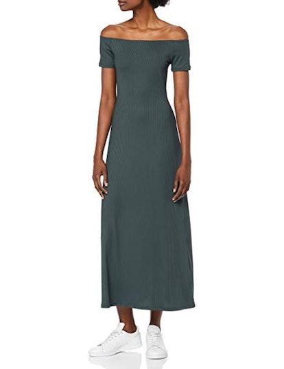 find. Rib Jersey Off-Shoulder Midi Dress