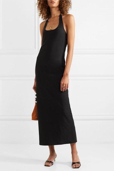Sofia Crepe Halterneck Midi Dress