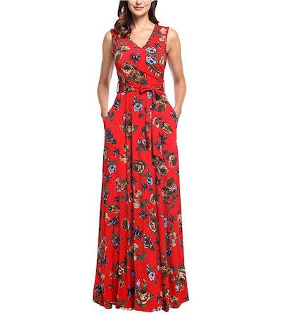 Comila V-Neck Maxi Dress