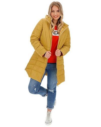 Hooded Longline Padded Coat