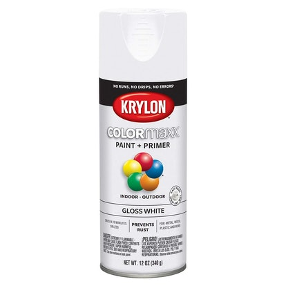 Krylon K05545007 COLORmaxx Spray Paint, Aerosol, White