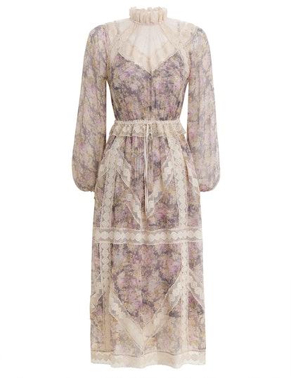 Sabotage Lace Yoke Midi Dress