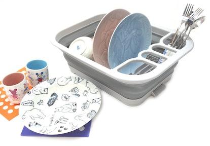 SAMMART Collapsible Dish Drying Rack