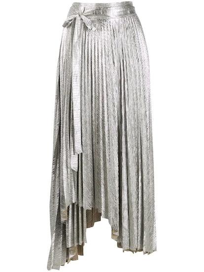 Doric Asymmetric Pleated Skirt