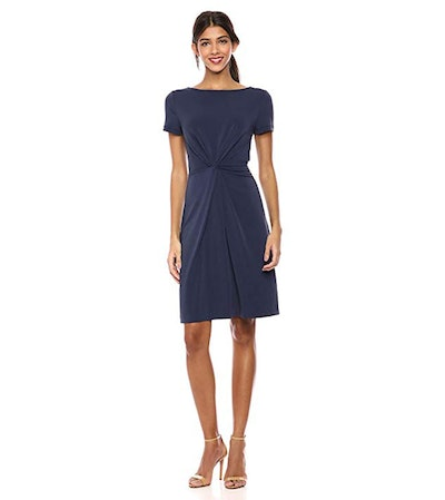Lark & Ro Crepe Center Twist Dress