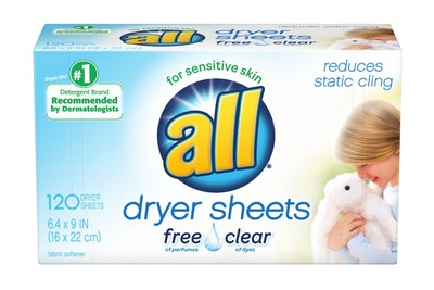 All Free & Clear Fabric Softener Dryer Sheets (120 Count)