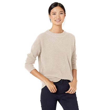 Goodthreads Wool Blend Thermal Stitch Crewneck Sweater
