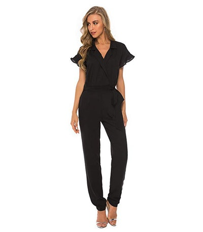 Plumberry Ruffle Trim Jumpsuit