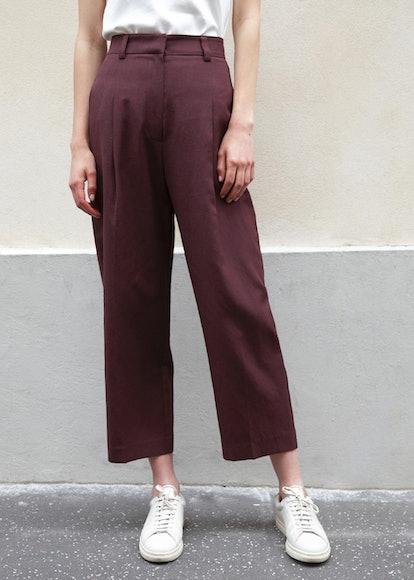 Bordeaux Cropped Trousers