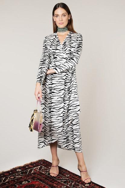 Mono Tiger Betty Wrap Dress
