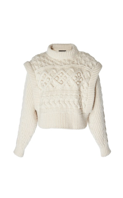 Milane Layered Cable Knit Sweater