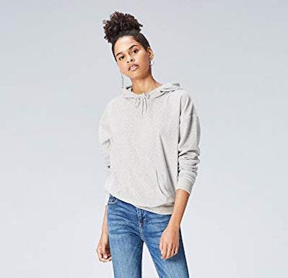find. Velour Hooded-Sweatshirt