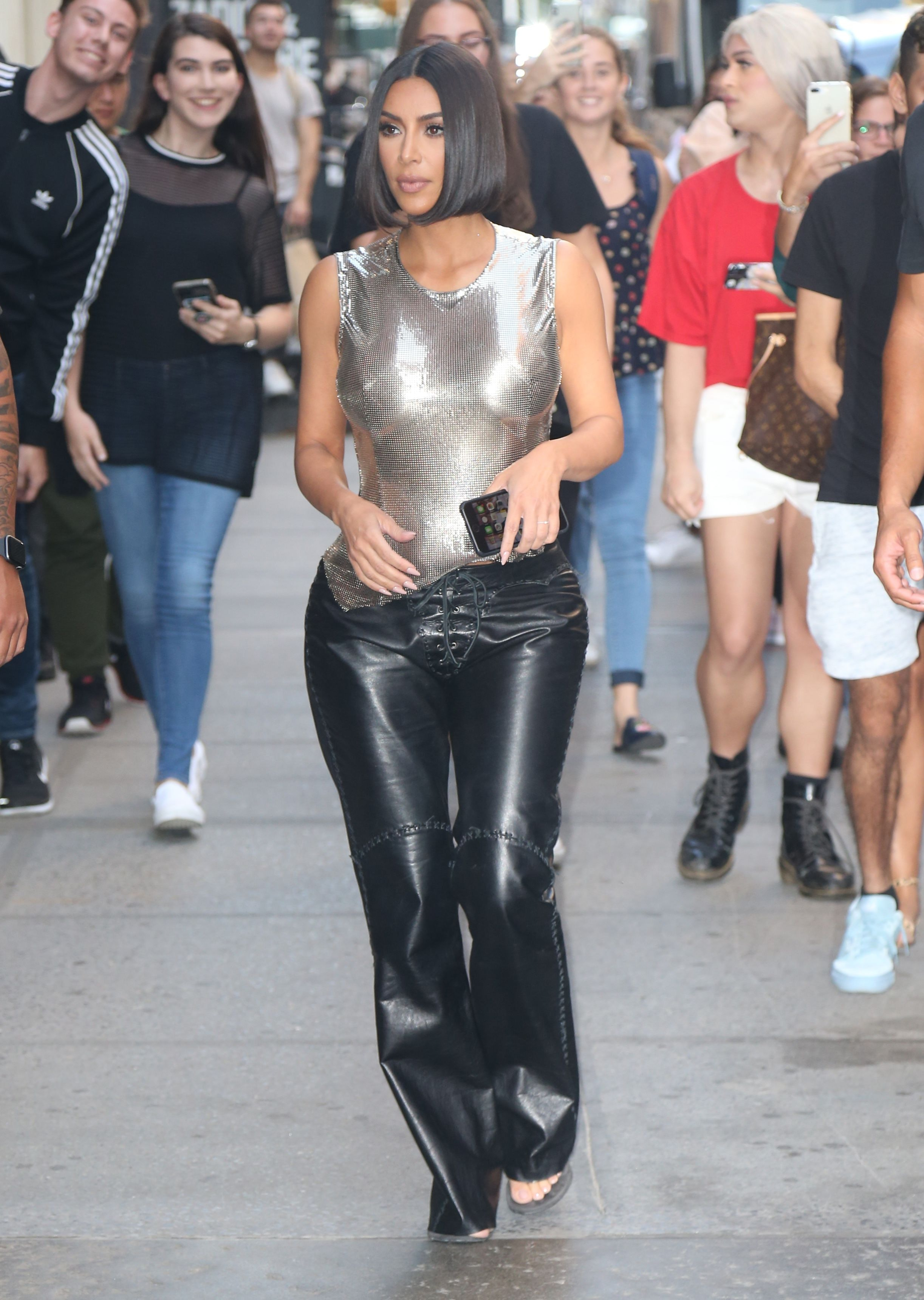 Kim Kardashian West S Leather Pants Are Key In Her September Street Style Looks