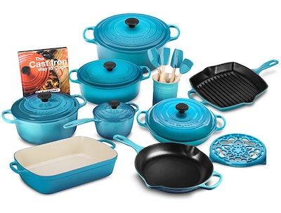 Le Creuset Signature Cast Iron 20 Piece Cookware Set