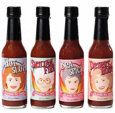 Golden Girls Inspired Hot Sauce 4-Pack Set
