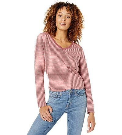 Goodthreads Vintage Cotton Long Sleeve V-Neck Tee