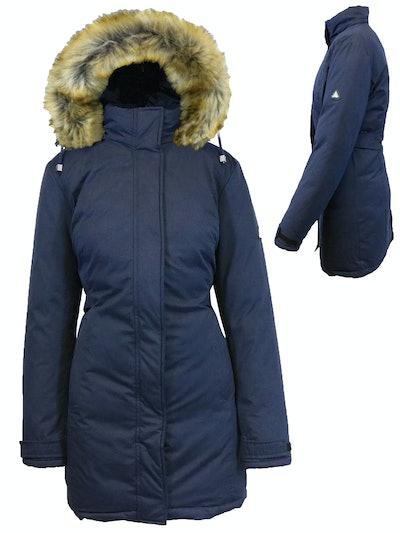 GBH Women's Heavyweight Parka Jacket With Detachable Hood