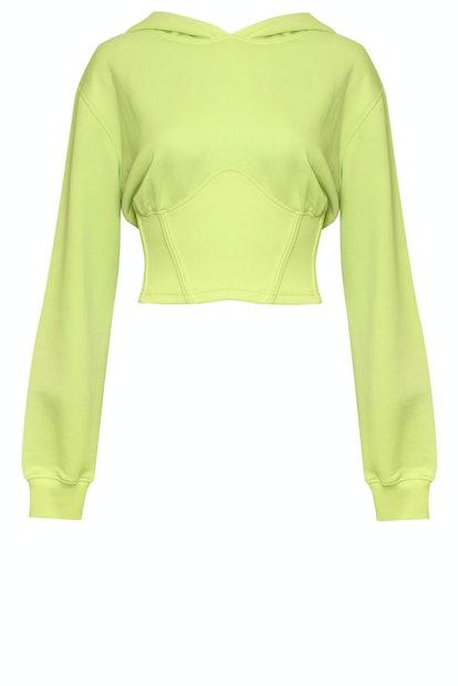 Neon Long-Sleeve Corset Top