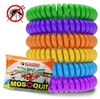 iCooker Mosquito Repellent Bracelets (12-Pack)