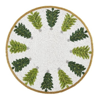 Beaded Christmas Trees Placemat