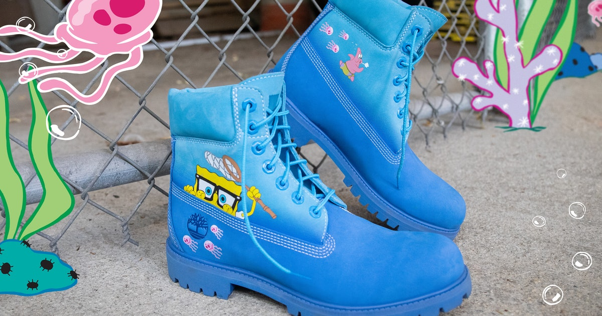 SpongeBob Squarepants Timberland Collection Is Here In Honor Of The Show's 20th Anniversary