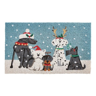 Winter Dogs Doormat