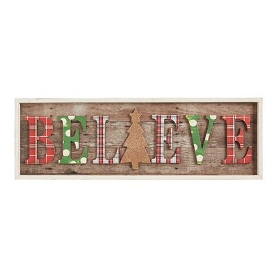 Believe Christmas Wall Decor