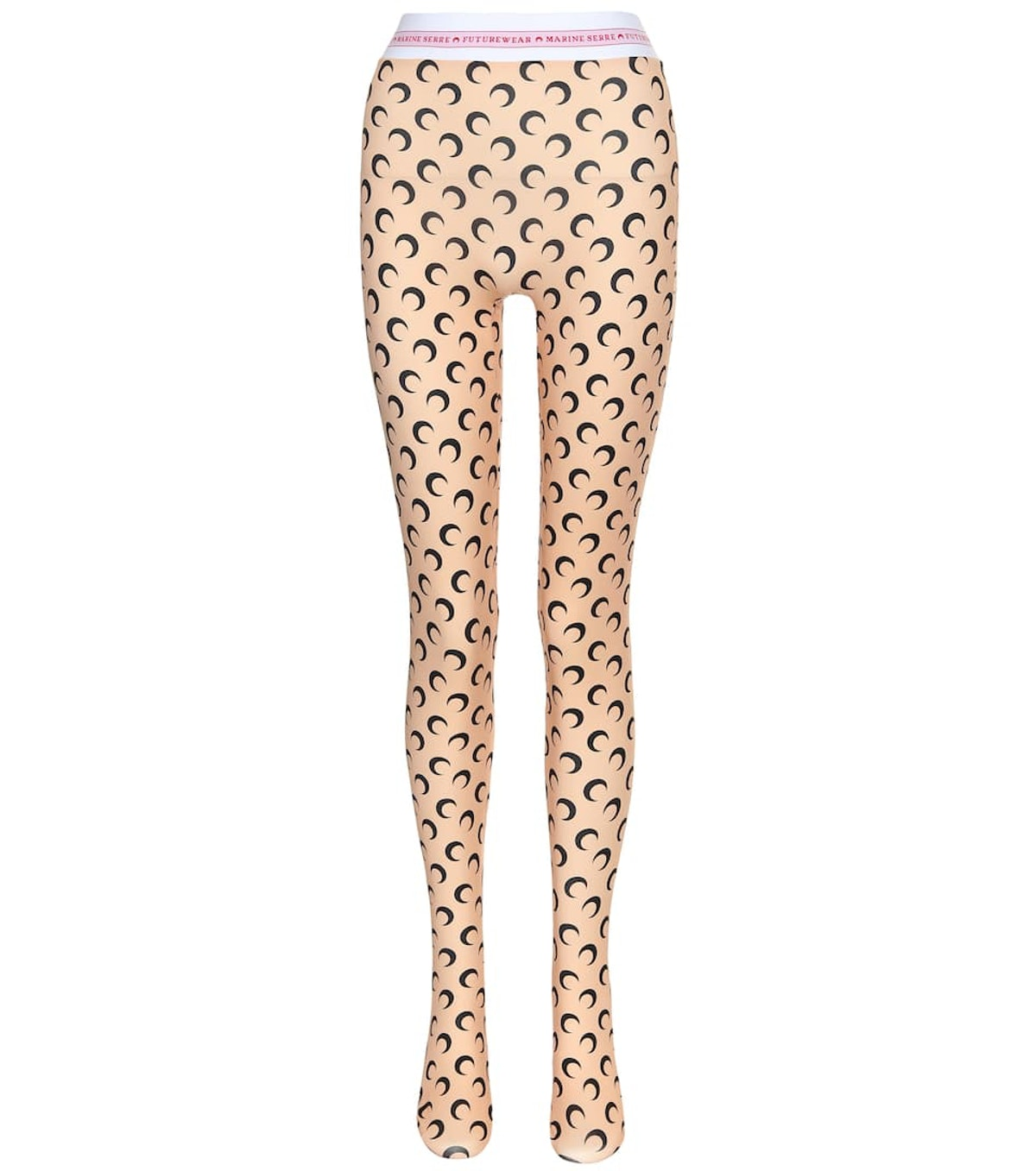 Printed Stretch-Jersey Tights