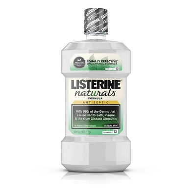 Listerine Naturals Antiseptic Mouthwash, Herbal Mint